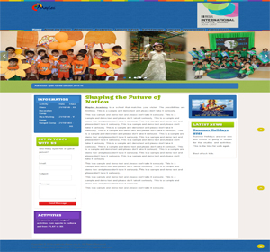 Maples Budhana website based on school website. This site designed and developed by ScripTech Solutions Private Limited.